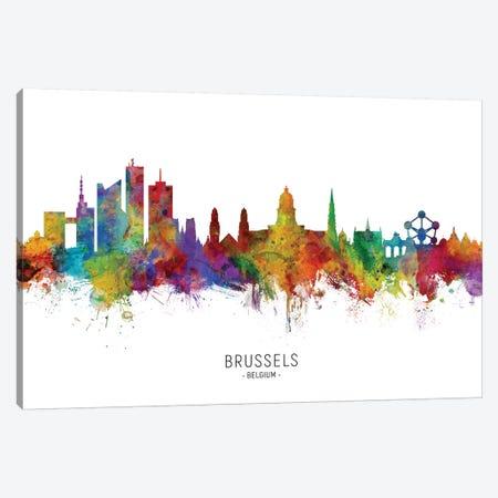 Brussels Belgium Skyline Canvas Print #MTO2053} by Michael Tompsett Canvas Print