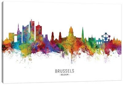 Brussels Belgium Skyline Canvas Art Print