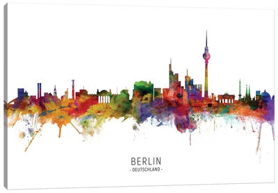 Berlin Germany Skyline Canvas Art Print
