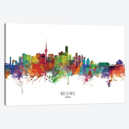 Beijing China Skyline Canvas Print #MTO2057} by Michael Tompsett Canvas Artwork