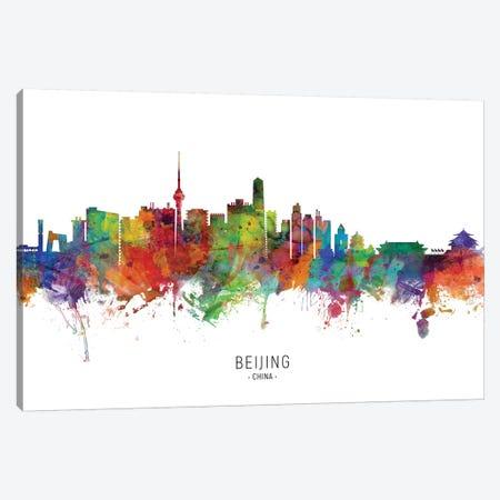 Beijing China Skyline Canvas Print #MTO2057} by Michael Tompsett Canvas Artwork