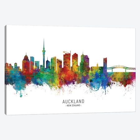 Auckland New Zealand Skyline Canvas Print #MTO2058} by Michael Tompsett Art Print