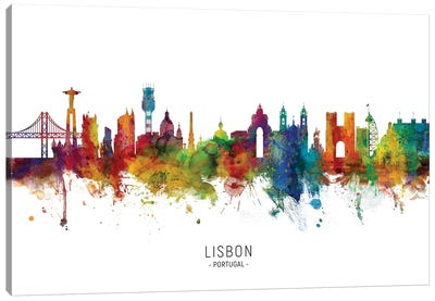 Lisbon Portugal Skyline Canvas Art Print
