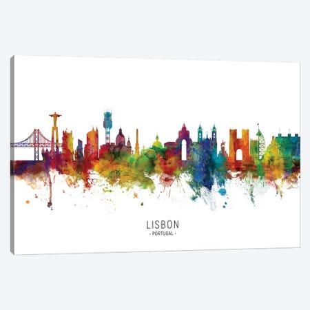 Lisbon Portugal Skyline Canvas Print #MTO2061} by Michael Tompsett Canvas Wall Art