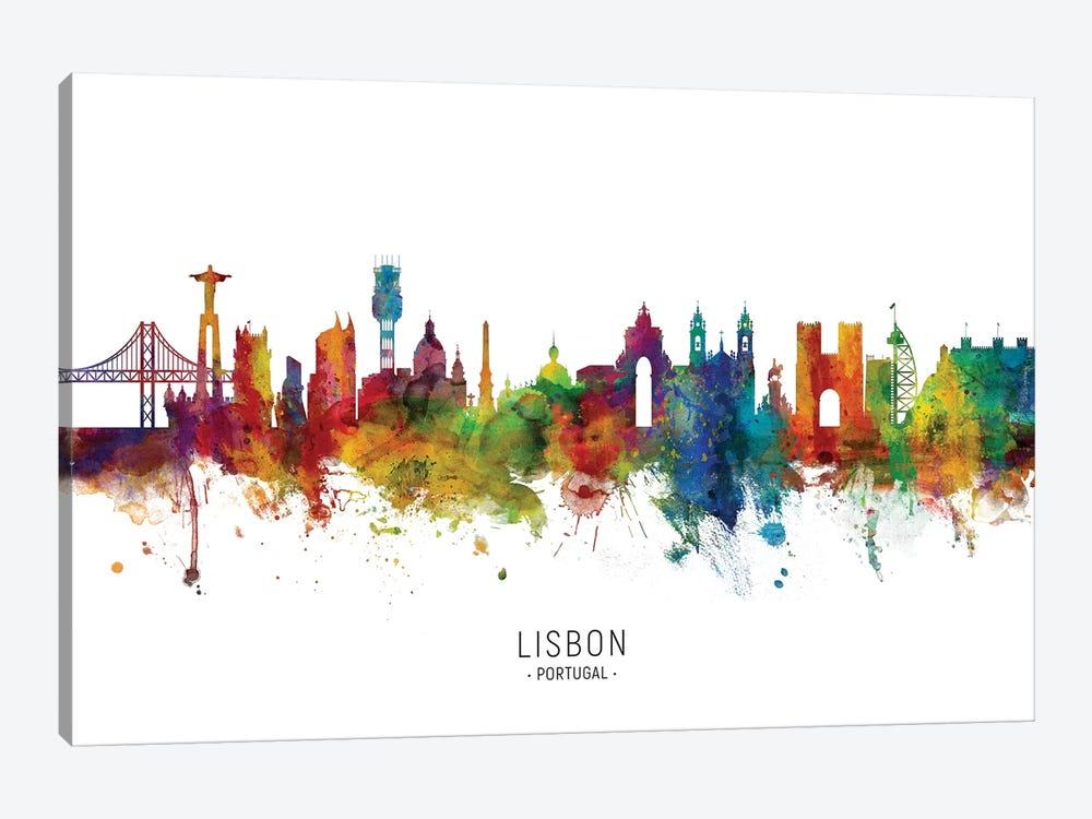 Lisbon Portugal Skyline by Michael Tompsett 1-piece Canvas Art