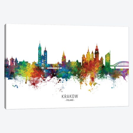 Krakow Poland Skyline Canvas Print #MTO2062} by Michael Tompsett Canvas Artwork