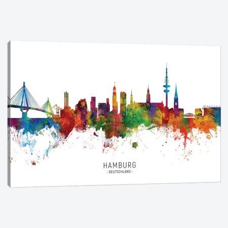 Hamburg Germany Skyline Canvas Print #MTO2066} by Michael Tompsett Art Print