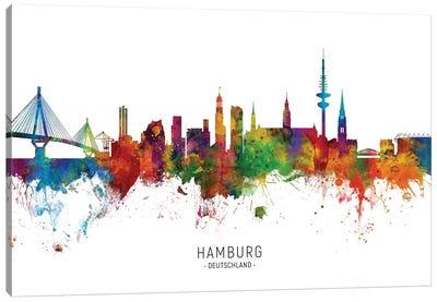Hamburg Germany Skyline Canvas Art Print