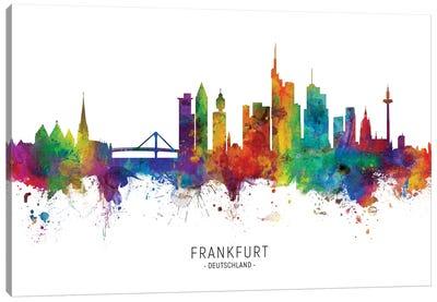 Frankfurt Germany Skyline Canvas Art Print