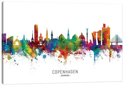 Copenhagen Denmark Skyline Canvas Art Print