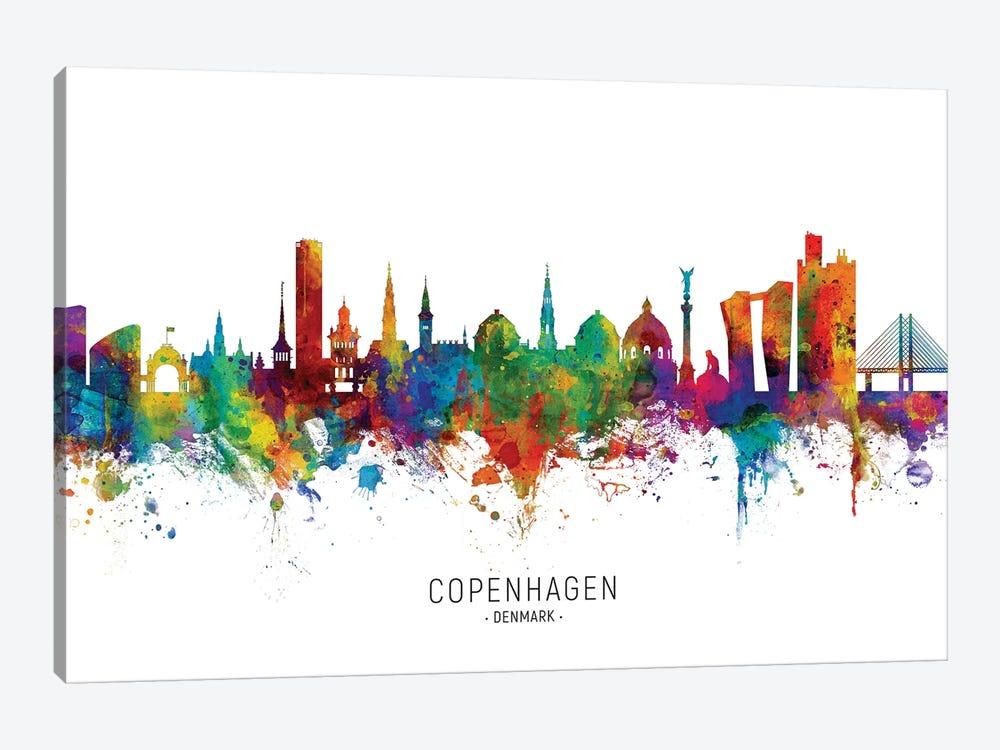 Copenhagen Denmark Skyline by Michael Tompsett 1-piece Canvas Art Print