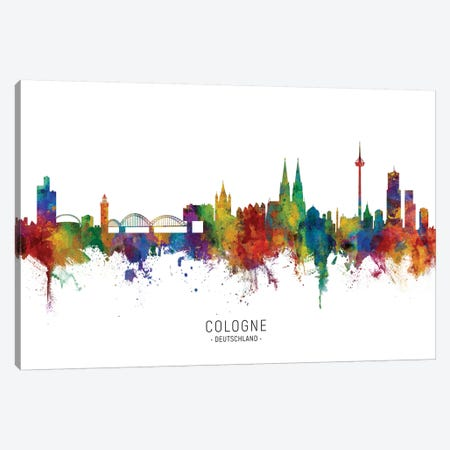 Cologne Germany Skyline Canvas Print #MTO2069} by Michael Tompsett Canvas Artwork