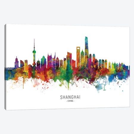 Shanghai China Skyline Canvas Print #MTO2071} by Michael Tompsett Canvas Art Print