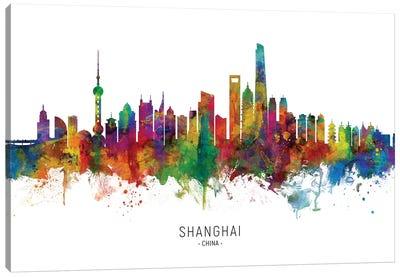 Shanghai China Skyline Canvas Art Print