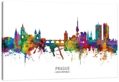 Prague Czech Republic Skyline Canvas Art Print