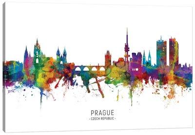 Prague Czech Republic Skyline Canvas Art Print