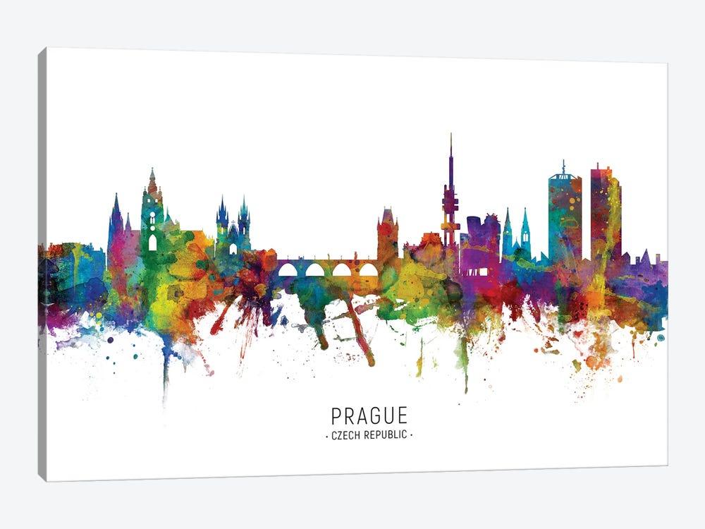 Prague Czech Republic Skyline by Michael Tompsett 1-piece Canvas Art