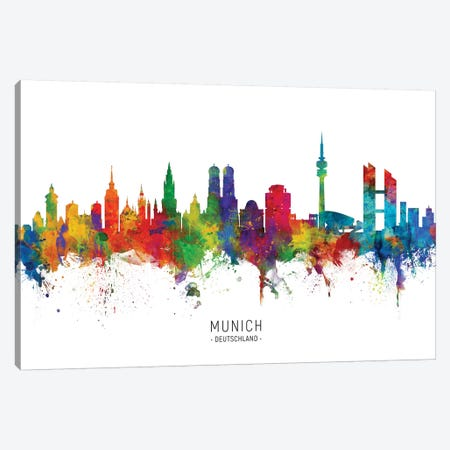 Munich Germany Skyline Canvas Print #MTO2073} by Michael Tompsett Canvas Print