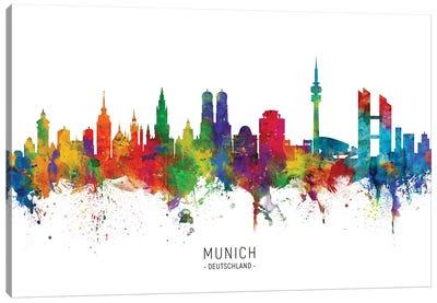 Munich Germany Skyline Canvas Art Print