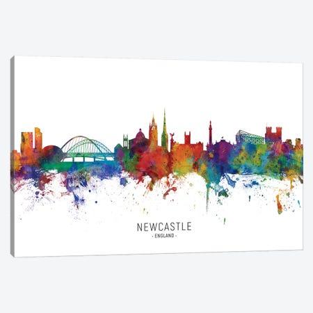 Newcastle England Skyline Canvas Print #MTO2074} by Michael Tompsett Canvas Art