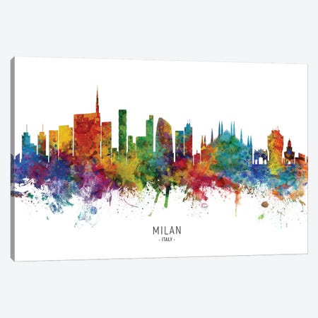 Milan Italy Skyline Canvas Print #MTO2075} by Michael Tompsett Canvas Artwork