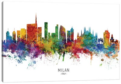 Milan Italy Skyline Canvas Art Print