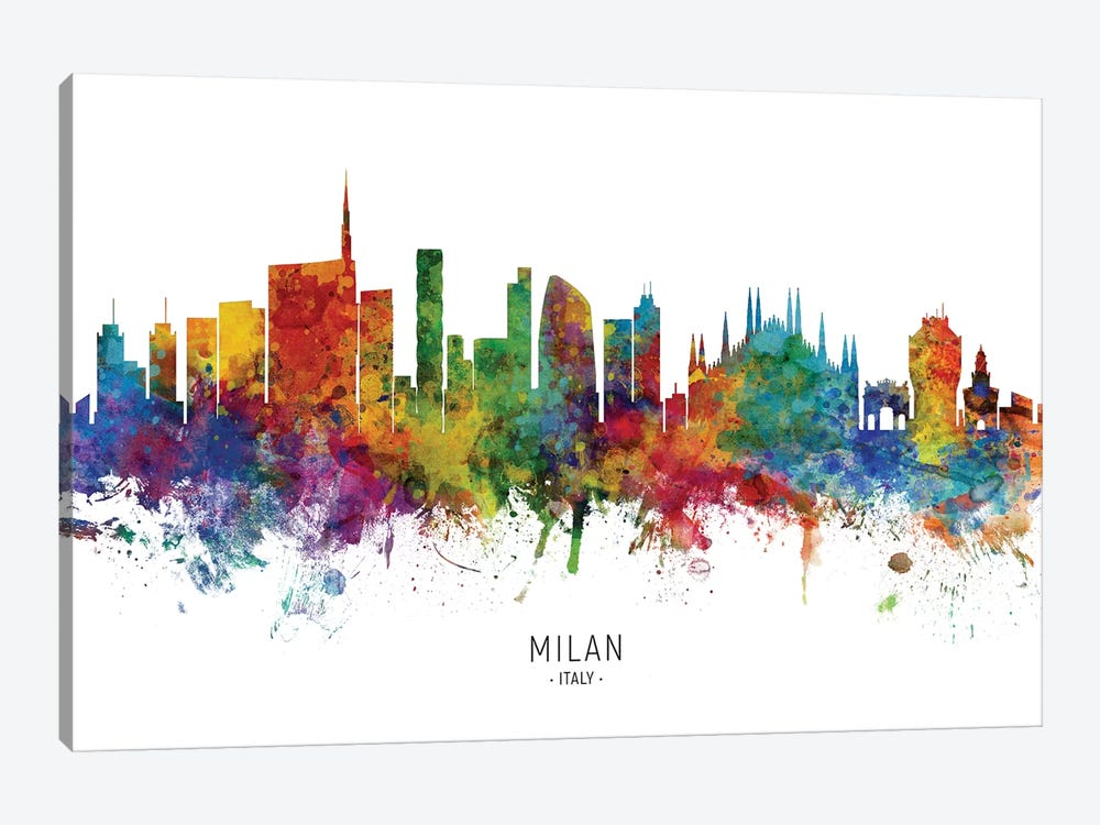 Milan Italy Skyline by Michael Tompsett 1-piece Canvas Art Print