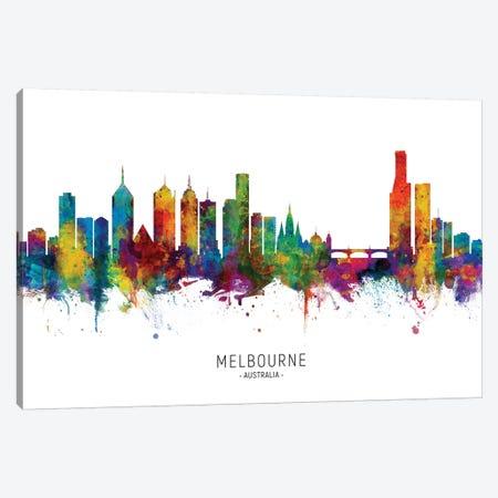 Melbourne Australia Skyline Canvas Print #MTO2076} by Michael Tompsett Canvas Art