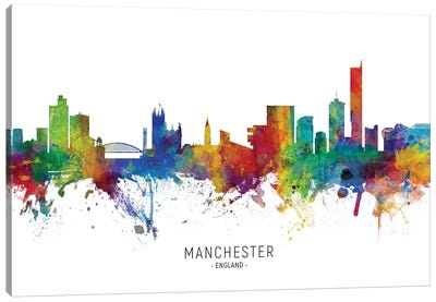 Manchester England Skyline Canvas Art Print
