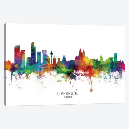 Liverpool England Skyline Canvas Print #MTO2078} by Michael Tompsett Canvas Print