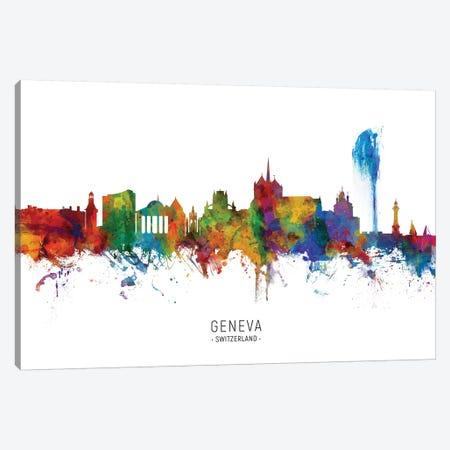 Geneva Switzerland Skyline Canvas Print #MTO2080} by Michael Tompsett Canvas Artwork