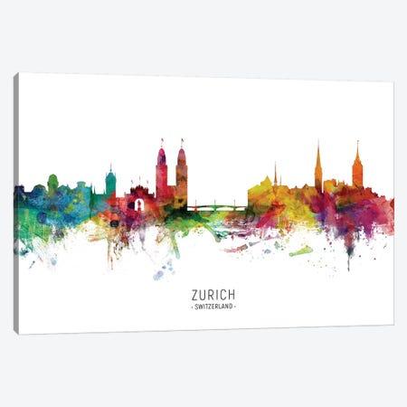 Zurich Switzerland Skyline Canvas Print #MTO2081} by Michael Tompsett Canvas Artwork