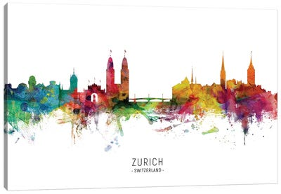Zurich Switzerland Skyline Canvas Art Print