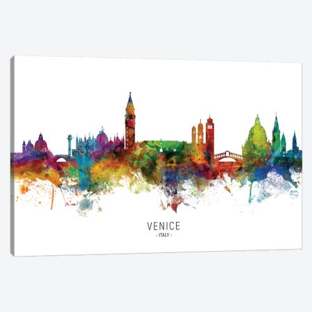 Venice Italy Skyline Canvas Print #MTO2083} by Michael Tompsett Canvas Wall Art