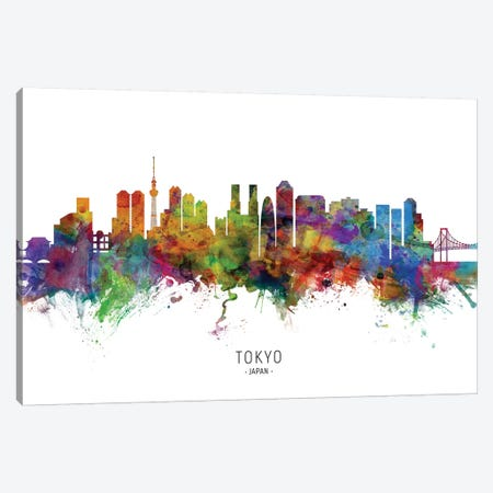 Tokyo Japan Skyline Canvas Print #MTO2084} by Michael Tompsett Canvas Art Print