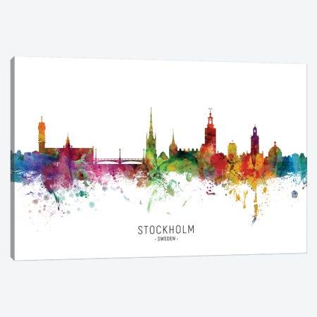 Stockholm Sweden Skyline 3-Piece Canvas #MTO2087} by Michael Tompsett Canvas Art Print