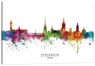 Stockholm Sweden Skyline Canvas Art Print