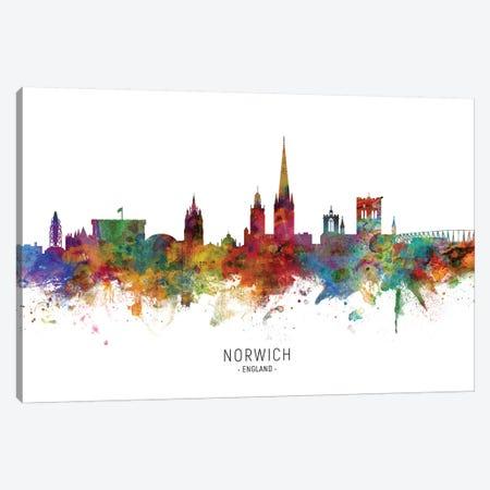 Norwich England Skyline Canvas Print #MTO2088} by Michael Tompsett Canvas Artwork