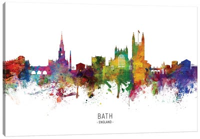 Bath England Skyline Canvas Art Print