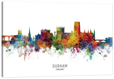 Durham England Skyline Canvas Art Print