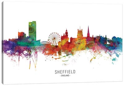 Sheffield England Skyline Canvas Art Print
