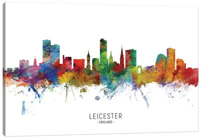 Leicester England Skyline Canvas Art Print