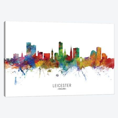 Leicester England Skyline Canvas Print #MTO2095} by Michael Tompsett Canvas Art