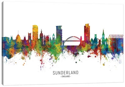 Sunderland England Skyline Canvas Art Print