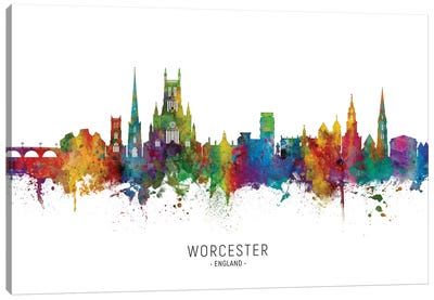 Worcester England Skyline Canvas Art Print