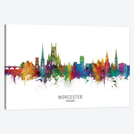 Worcester England Skyline Canvas Print #MTO2099} by Michael Tompsett Art Print
