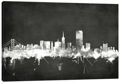 Blackboard Skyline Series: San Francisco, California, USA Canvas Print #MTO20
