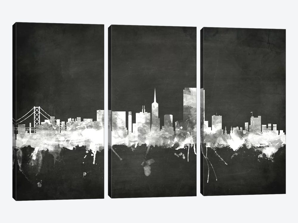 San Francisco, California, USA 3-piece Art Print