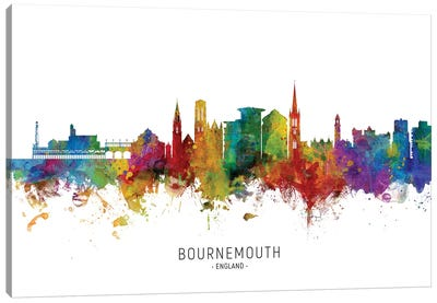 Bournemouth England Skyline Canvas Art Print