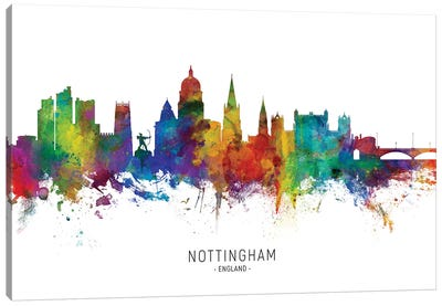 Nottingham England Skyline Canvas Art Print